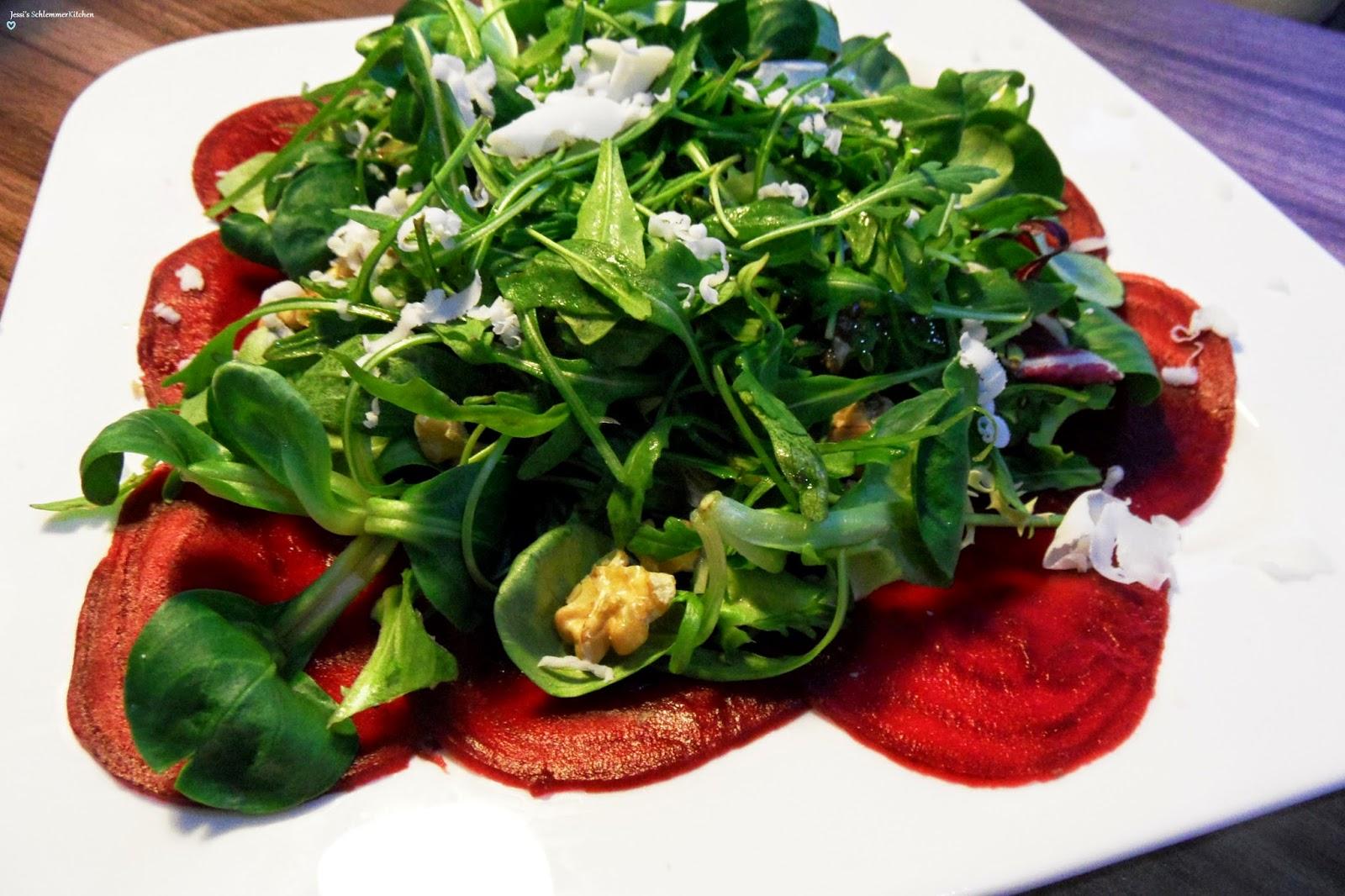 Rote-Bete:Rote-Bete-Carpaccio-Salat-Walnüsse-Ziegenkäse