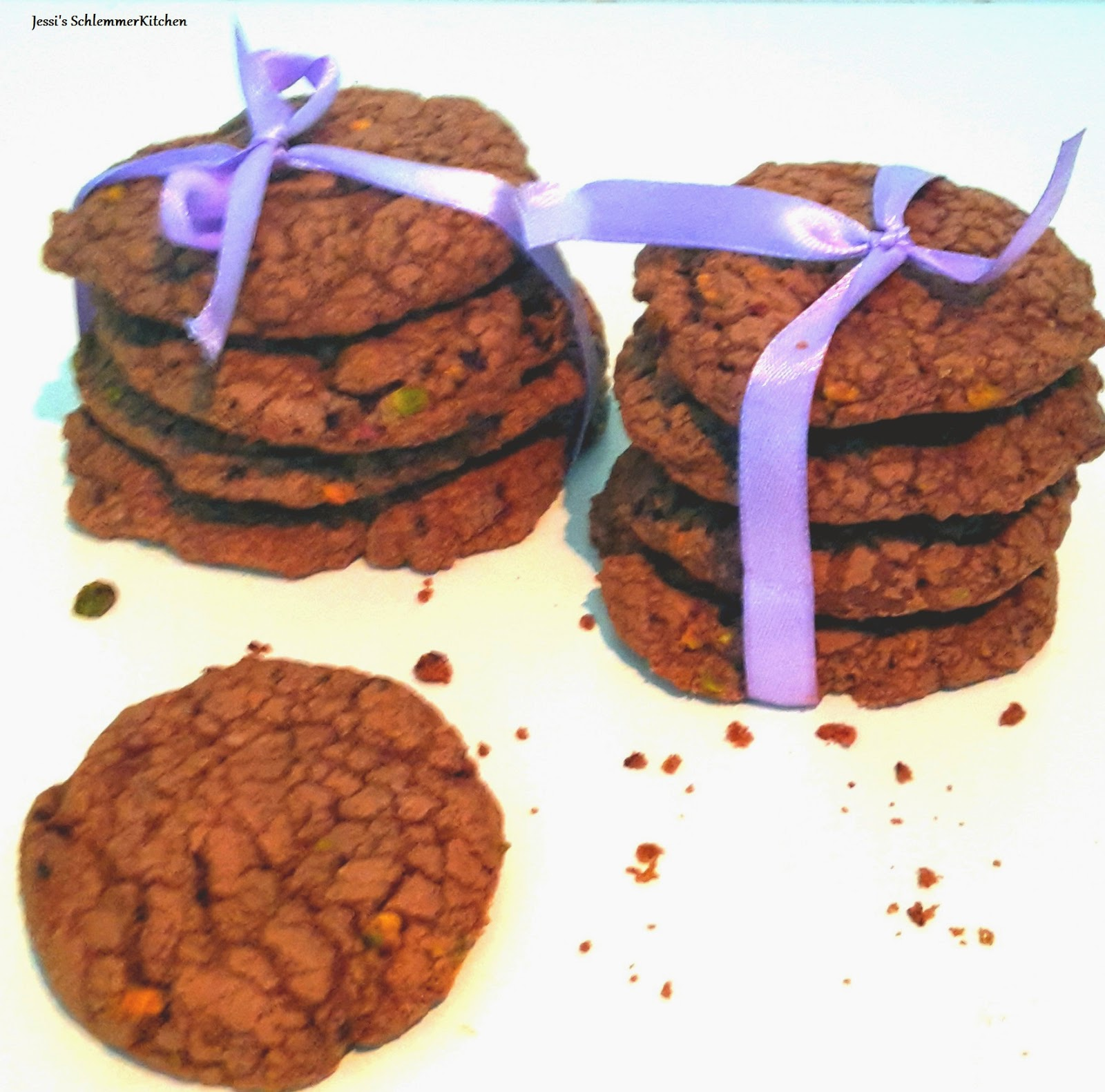 Choco-Pistachio-Cookies