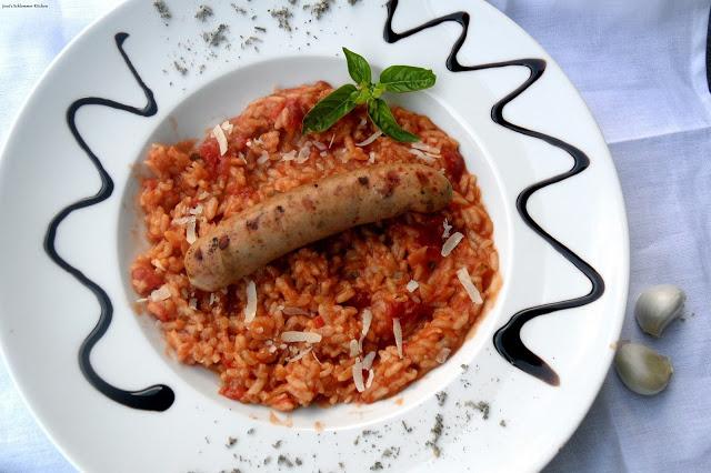 Tomaten-Basilikum-Risotto