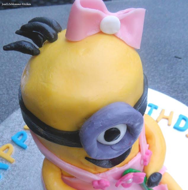 Minion-Mädchen Minion, Miniongirl, Torte