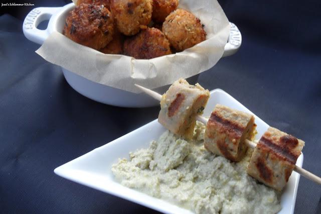 Süßkartoffel Quinoa Bällchen - Avocado-Frischkäse-Dip - Grillido Veggie