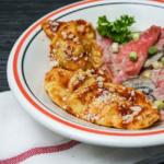 Zweilei Ravioli  mit  und ohne Fleisch