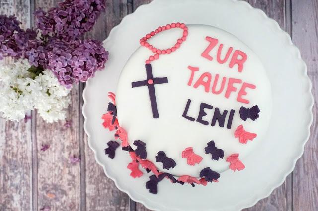 Tauftorte - Mädchen - Schmetterlinge - Motivtorte - Schokoladenkuchen