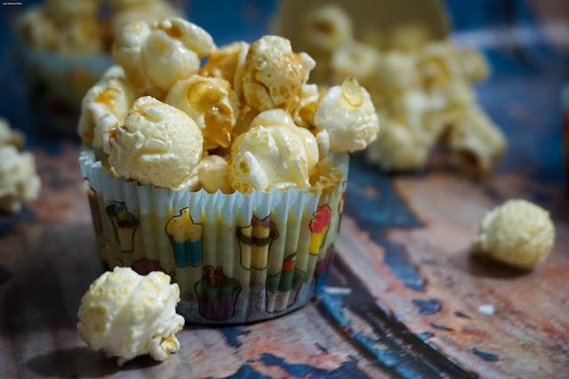 Cheesecake Cupcakes - Popcorn - Käsekuchen Muffins - Karamell