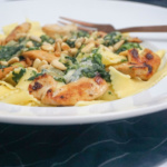 {Let's cook togehter} Soulfood – Pasta mit Hühnchen, Gorgonzola und Spinat