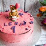 Wunderkuchen mit Erdbeer-Buttercreme