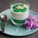 Waldmeister Dessert mit selbstgemachten Waldmeister Sirup
