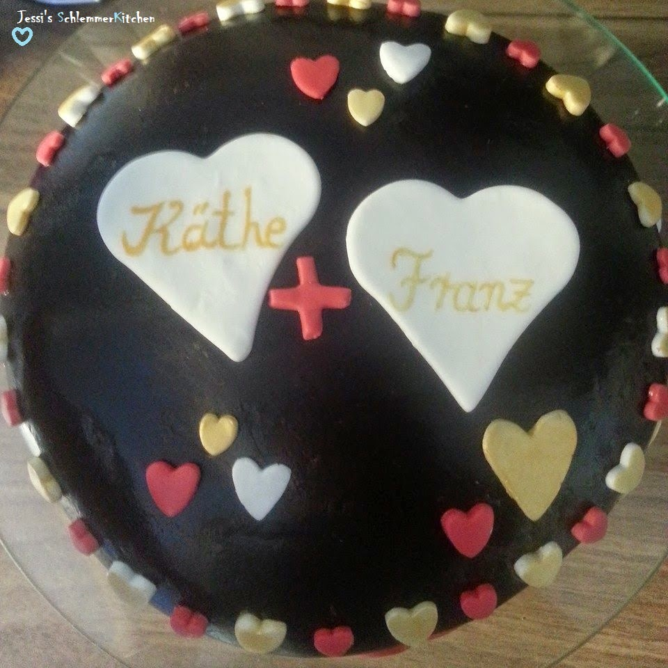 Backen: Fondant-Torte-zum-Hochzeitstag