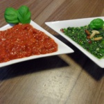 Basilikum-Pesto & Tomaten-Pesto