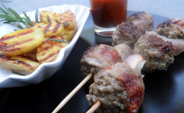 Bacon-Chilli-Hackbällchen-Spieße