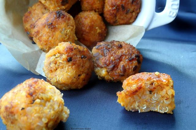 Süßkartoffel Quino Bällchen