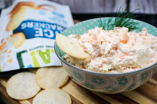 Lachsaufstrich-Rice Crackers