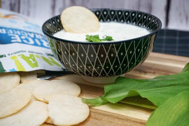 Bärlauch Dip - Rice Crackers