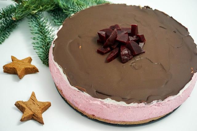 Ombre-Cheesecake mit Roter Bete und Himbeeren - Kuchen trifft Gemüse