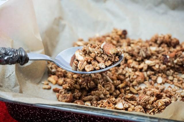 Mandel-Schoko-Granola - Schokoladen-Müsli