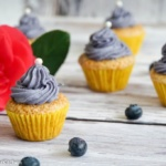 Mini Zitronen Heidelbeer Cupcakes