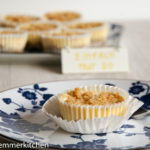 Käsekuchen Muffins mit Streuseln