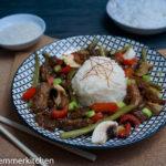 Asiatisches Rindfleisch mit Reis [+ Gewinnspiel]