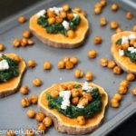 Ofen-Süßkartoffeln mit Kichererbsen